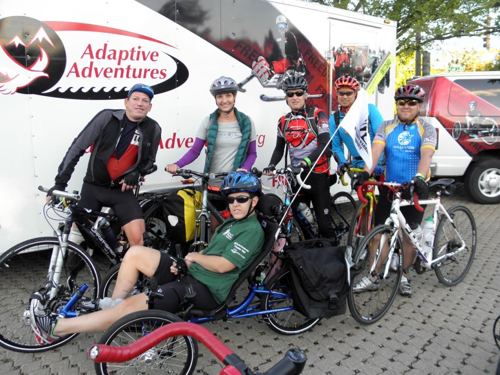 Adaptive Adventures Cyclists